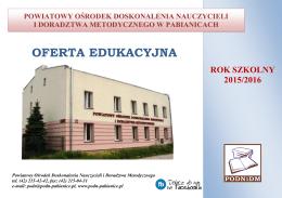 oferta edukacyjna - Powiatowy ośrodek doskonalenia nauczycieli i