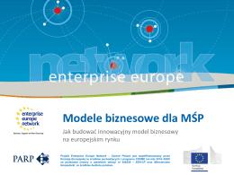 Modele biznesowe dla MŚP