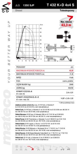 T 432 K+D 4x4 S 43,3 m