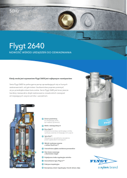Pompy Flygt 2640 - Water Solutions