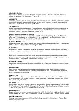 Zobacz listę z września - Wydzial Pedagogiczny Uniwersytetu