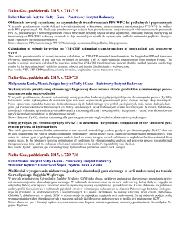 Rodzaje informacji - Instytut Nafty i Gazu