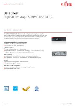 Data Sheet FUJITSU Desktop ESPRIMO D556/E85+