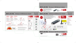 Wireless G USB Network Adapter