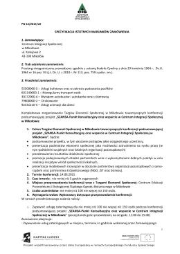 Centrum Integracji Społecznej w Mikołowie ul. Kolejowa 2 43-1