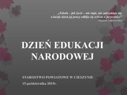Dzień Edukacji Narodowej - Starostwo Powiatowe w Cieszynie