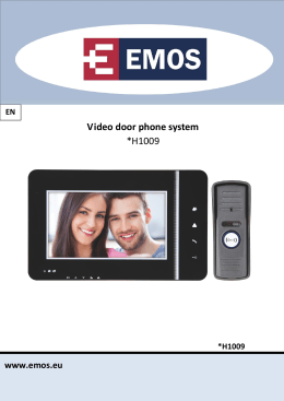 Video door phone system *H1009