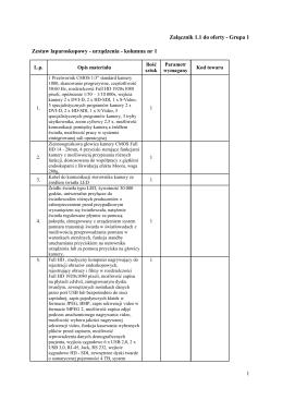 Załącznik 1.1 do oferty - Grupa 1 Zestaw laparoskopowy