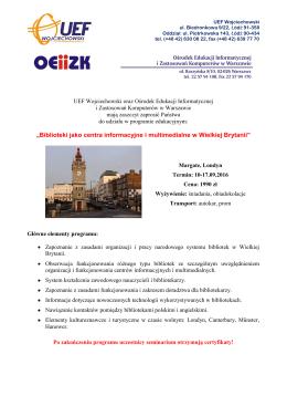 Oferta - Serwis Informacyjny dla Nauczycieli Bibliotekarzy OEIiZK