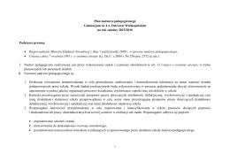 1 Plan nadzoru pedagogicznego Gimnazjum nr 4 w Ostrowie