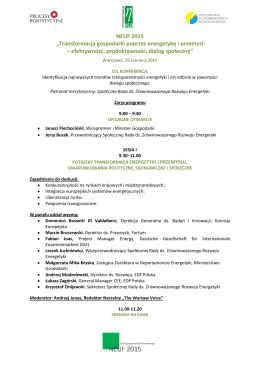 Program konferencji NEUF 2015