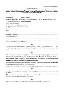 UMOWA (projekt ) - Powiatowe Biuro Geodezji i Katastru w Świdnicy