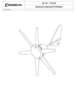 Art. Nr 11 06 39 Generator wiatrowy 913 Rutland