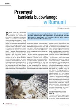 Przemysł kamienia budowlanego w Rumunii 46