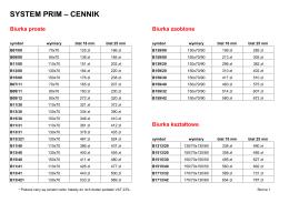 SYSTEM PRIM – CENNIK