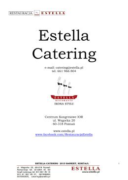 estella catering 2015 bankiet, koktajl