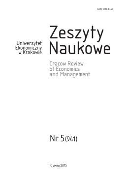 Pełny tekst zeszytu  - Uniwersytet Ekonomiczny w Krakowie