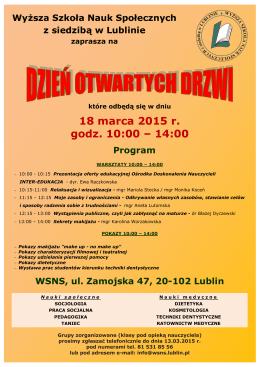 Dzień Otwartych Drzwi WSNS 18 marca 2015-1