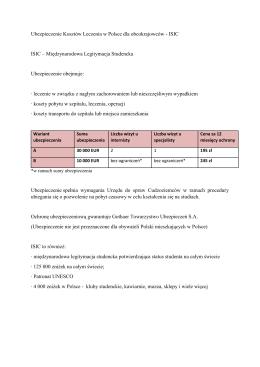 Ubezpieczenie Kosztów Leczenia w Polsce dla obcokrajowców