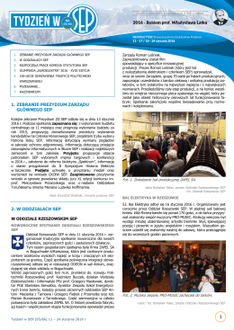 1. zebranie prezydium zarządu głównego sep 2. w oddziałach sep