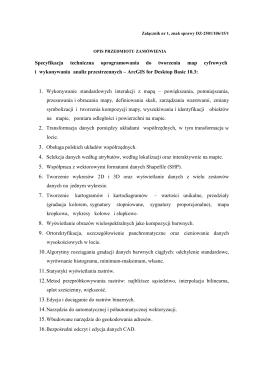 Załącznik nr 1 - opis przedmiotu zamówienia