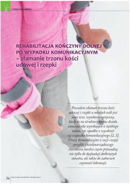Rehabilitacja kończyny dolnej po wypadku komunikacyjnym