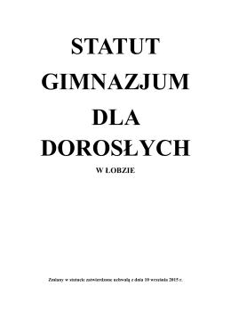 Statut Gimnazjum Dla Dorosłych - pdf