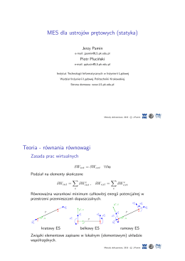 MES dla ustrojów prętowych (statyka) Teoria