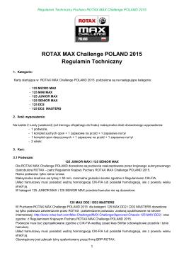 Regulamin Techniczny ROTAX MAX CHALLENGE