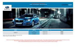 Pobierz arkusz specyfikacji modelu Levorg 16MY (cennik