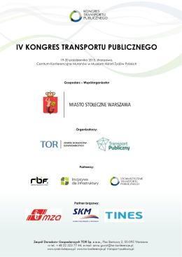 IV KONGRES TRANSPORTU PUBLICZNEGO