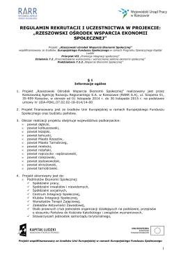 Regulamin ROWES_aktualny - Rzeszowski Ośrodek Wsparcia