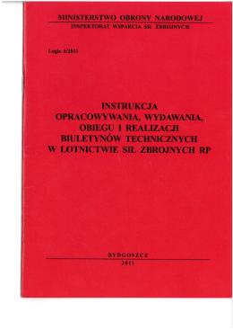 biuletynów technicznych - Inspektorat Uzbrojenia