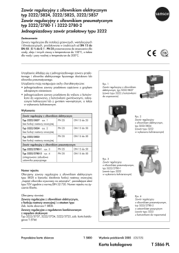Zawór regulacyjny z si³ownikiem elektrycznym typ 3222/5824, 3222