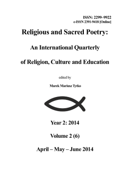 2/2014 - Religious and Sacred Poetry