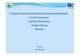 Projekt suchych zbiorników przeciwpowodziowych na rzece