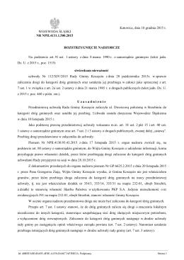 Rozstrzygnięcie nadzorcze Nr NPII.4131.1.500.2015 z dnia 10