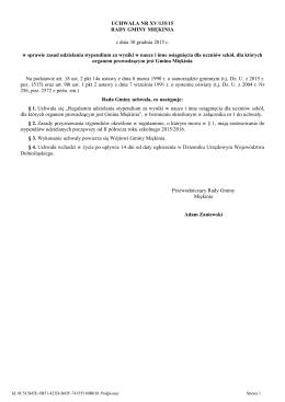 Uchwala Nr XV/135/15 z dnia 30 grudnia 2015 r.