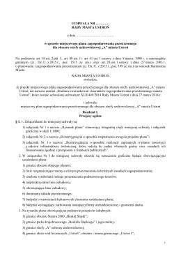 MPZP strefa A - Uchwała - 25.01.2016