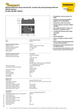 Wieloprotokołowa stacja sieciowa BL compact dla przemysłowego