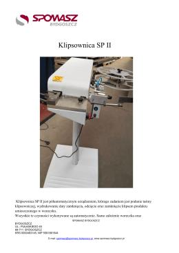 Klipsownica SP II - Spomasz Bydgoszcz