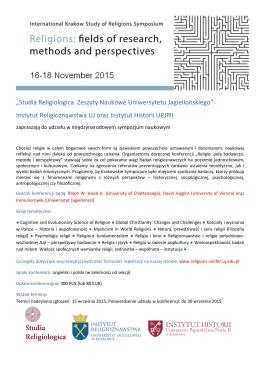 Studia Religiologica. Zeszyty Naukowe Uniwersytetu Jagiellońskiego