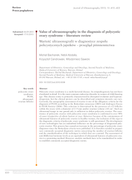 Value of ultrasonography in the diagnosis of polycystic ovary