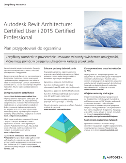 Autodesk Revit Architecture: Certified User i 2015 Certified
