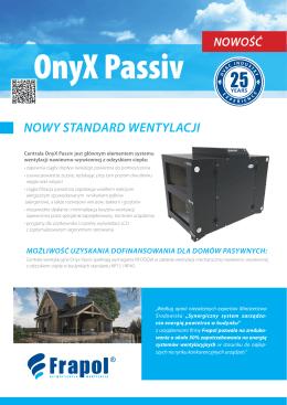 Karta katalogowa Onyx Passiv