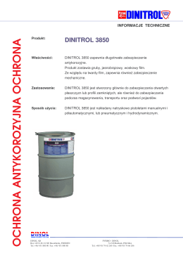 dinitrol 3850 - Kleje specjalistyczne SZU