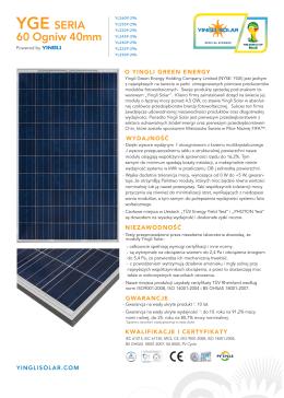 Yingli Solar - Ekofachowcy.pl