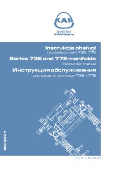 Instrukcja obsługi rozdzielaczy serii 73E oraz 77E - KAN