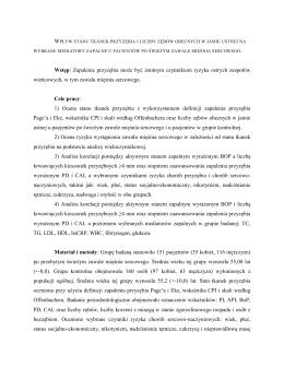 streszczenie pracy doktorskiej lek. dent. Bartłomieja Górskiego