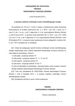Zarządzenie Nr 105.2015.DGL